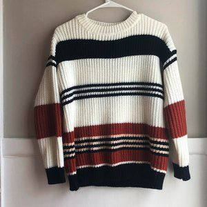 ZESICA striped sweater size s
